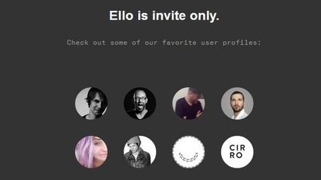 Ello: Soziales Netzwerk profitiert von Facebook-Flucht | Off the beaten track: Kreativ und cool | Scoop.it