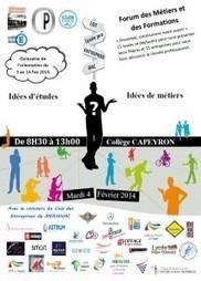 Forum des Métiers et des Formations 2014 - Collège Capeyron | PDMF | Scoop.it