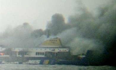 Ferry catches fire between Greece and Italy with hundreds on board | Politically Incorrect | Scoop.it