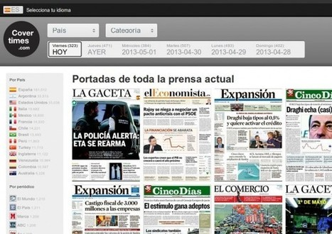 covertimes, portadas de la prensa mundial clasificadas por temas, idiomas, países…   Prensa 2.0  scooped by Lou   Scoop.it