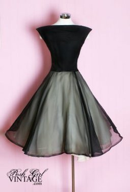 1950's Black Evening Audrey Dress 1950's 50's Black Evening Cocktail Dress Audrey Hepburn style. : | Little Black Dress | Scoop.it