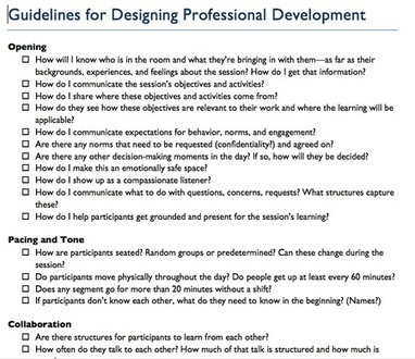 Guidelines for Designing Professional Development | eLearning in a ever changing world | Scoop.it