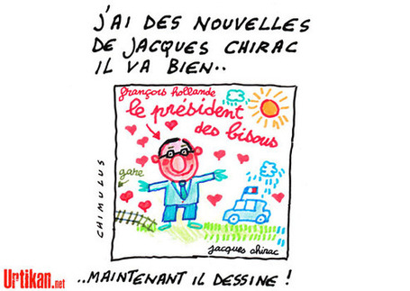 François Hollande : Je suis le Président des bisous - Urtikan.net | Humour : Un dessin de presse qui en dit plus qu'une phrase | Scoop.it