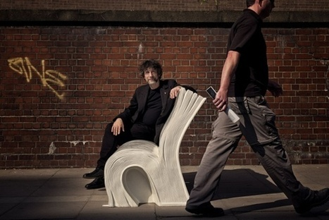 Neverwhere book bench: come see it at the Guardian | Illustration Cloud - in the wild | Scoop.it