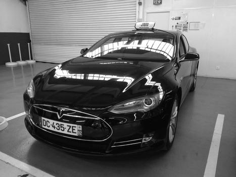 Premier Taxi Parisien Tesla S, 100% électrique   Smart Systems   Scoop.it