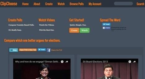 Clipchoose. Créer des sondages sur des vidéos | Education et TICE | Scoop.it