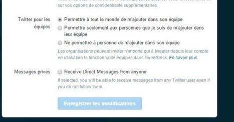 Nouveauté Twitter : il est possible de recevoir des DM de la part de tous les utilisateurs - Blog du Modérateur | François MAGNAN  Formateur Consultant et Documentaliste | Scoop.it