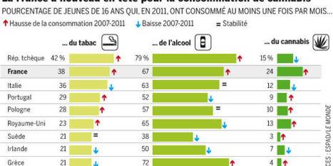 Drogues : la consommation des jeunes à la hausse | Drogues, effets et dangers : Ressources pour collégiens | Scoop.it