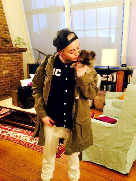 """Miley Cyrus Gives Away New Puppy Moonie, Says It's """"Too Soon"""" After Floyd's Death 