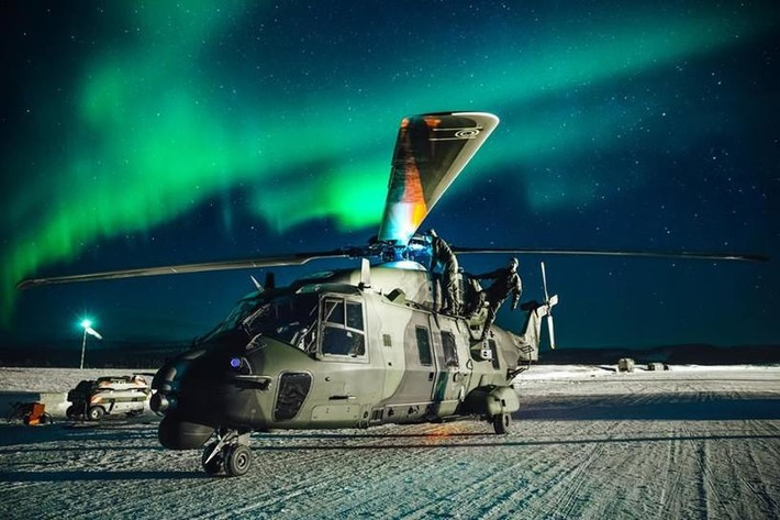 COLD BLADE 2016 - European Defence Agency - NH90 - Utti Jaeger Regiment - Ivalo, Finland - Aurora Borealis | NHIndustries - NH90 | Scoop.it