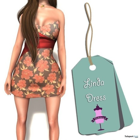 Linda Dress 1L Promo by Delicious Boutique | Teleport Hub - Second Life Freebies | Second Life Freebies | Scoop.it