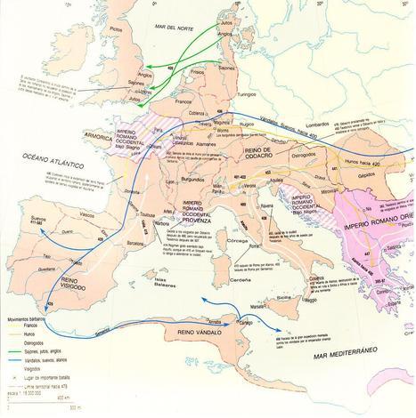 La Expansión de los Visigodos por el Imperio Romano | medieval | Scoop.it