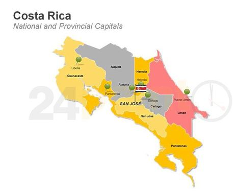 National and Provincial Maps of Costa Rica for PowerPoint Presentations | costa rica | Scoop.it