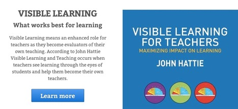 VISIBLE LEARNING - Information about What works best in education | Education Technology | Scoop.it