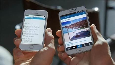Samsung pokes fun at iPhone screen size rumors in GS5 ad | Pocketnow | mlearn | Scoop.it