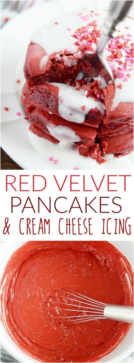 Red Velvet Pancakes & Cream Cheese Frosting - Something Swanky | ♨ Family & Food ♨ | Scoop.it