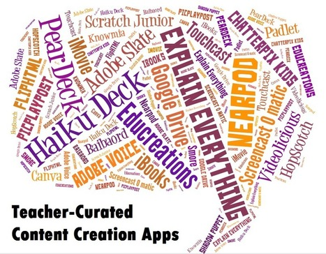 24 Favorite Teacher-Curated Web and iOS Apps for Creating Content | Digital Classrooms | Scoop.it