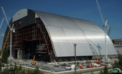 Chernobyl confinement arch joined together | Nuclear Physics | Scoop.it