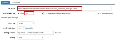 How to set up cron job for OpenCart Abandoned Cart Reminder   OpenCart Development Design and Modules   Scoop.it