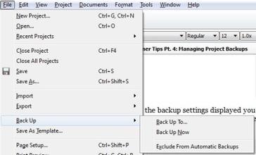Scrivener Tips Pt. 4: Project Backups   Scrivener   Scoop.it