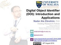 Digital Object Identifier (DOI): Introduction and Applications | Educación a Distancia y TIC | Scoop.it