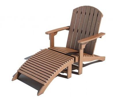 Chaise longue en bois 3D | 3D Library | Scoop.it