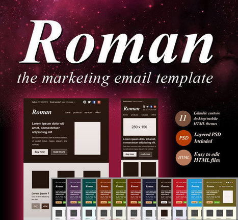 Roman: The Marketing Email Template for $9.95 | Design & Technology by AVPC.EU | Scoop.it