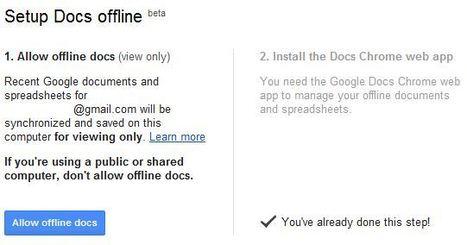 Ya disponible Google Docs en modo offline | e-learning y aprendizaje para toda la vida | Scoop.it