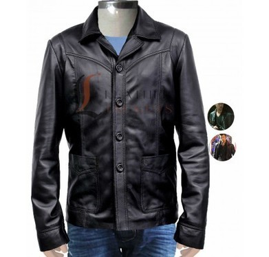 KTS Black Leather Jacket as seen on Brad Pitt - Brad Pitt Jackets - Men Celebrity Jackets | Unique collection of celebrity jackets its now | Scoop.it