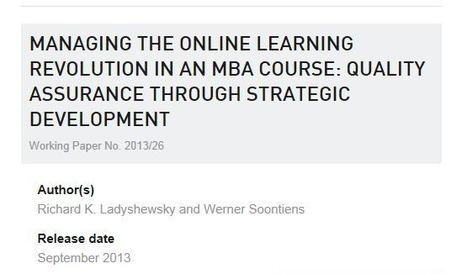 Publications - Maastricht school of Management | Quality assurance of eLearning | Scoop.it