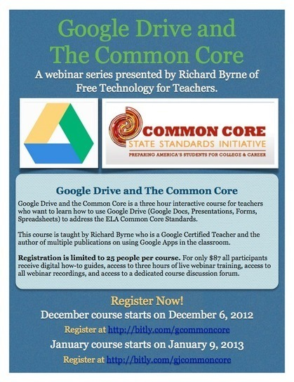 Free Technology for Teachers: New Course - Google Drive and the Common Core | Technology & classroom | Scoop.it