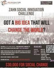 Zahn Center Announces Social Entrepreneurship Contest – CUNY ...   Zahn Center NYC   Scoop.it