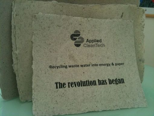 Turning sewage into eco friendly paper