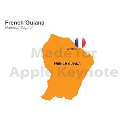 French Guiana Map for Apple Keynote Template | Apple Keynote Slides For Sale | Scoop.it