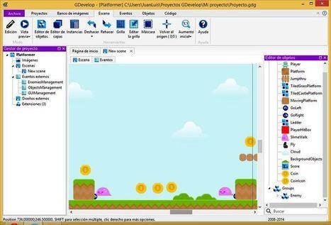 2 entornos gratuitos para desarrollar videojuegos sin programar   tecno4   Scoop.it