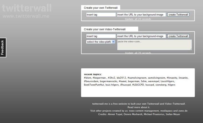 Twitterwall: Wil iedereen even zijn mobieltjeaanzetten? | Educatief Internet - Gespot op 't Web | Scoop.it