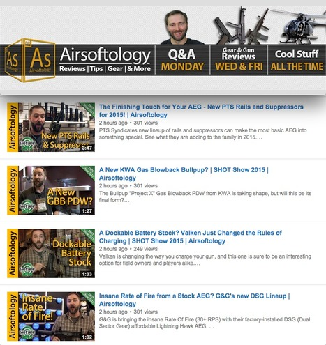 MORE SHOT SHOW '15 VIDEOS from Airsoftology - on YouTube | Thumpy's 3D House of Airsoft™ @ Scoop.it | Scoop.it