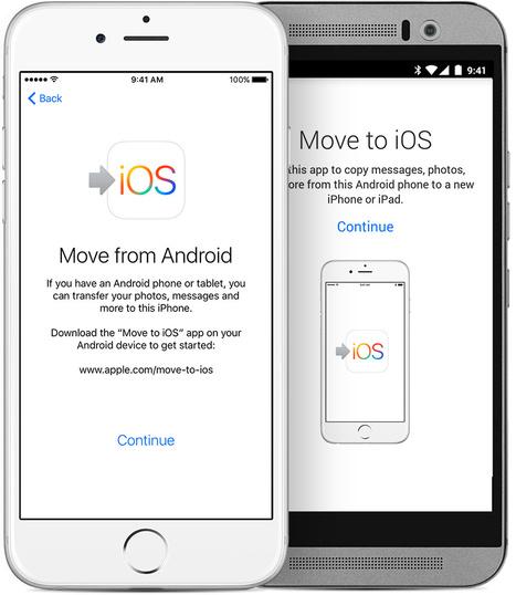 Apple va sortir une application pour passer d'iOS vers Android   Actualité Geek (High-Tech)   Scoop.it