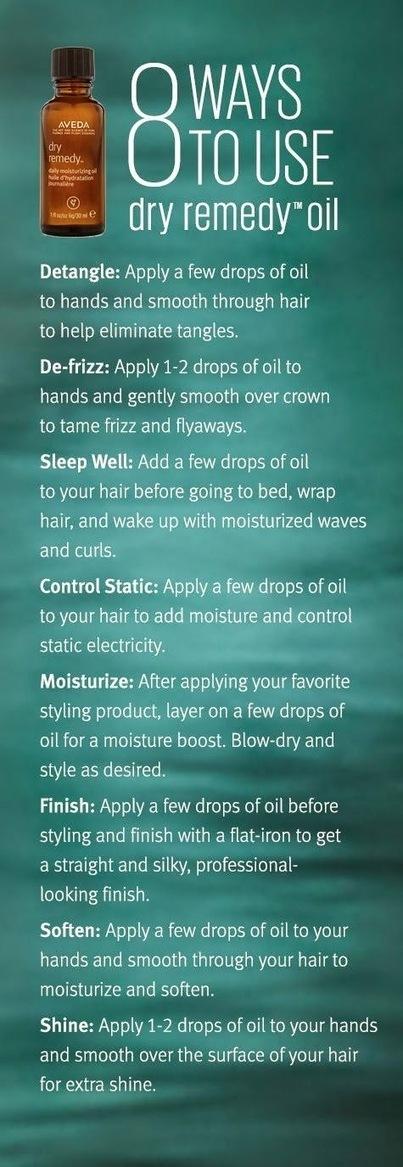 8 ways to use DryRemedy Daily Moisturizing Oil | Mission Aveda Salon | Scoop.it