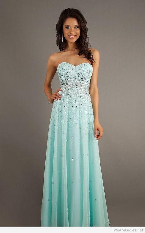 Wonderful long light blue dress with glitter   Pintast   Scoop.it