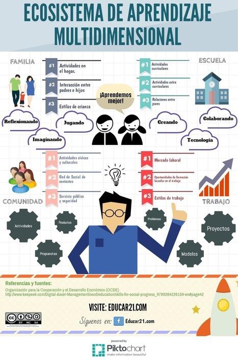 Ecosistema del Aprendizaje Multidimensional #infografia #infoigraphic #education   Aprendiendoaenseñar   Scoop.it