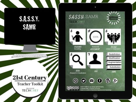 """""""S.A.S.S.Y. SAMR"""" - A Haiku Deck by Lisa Johnson 