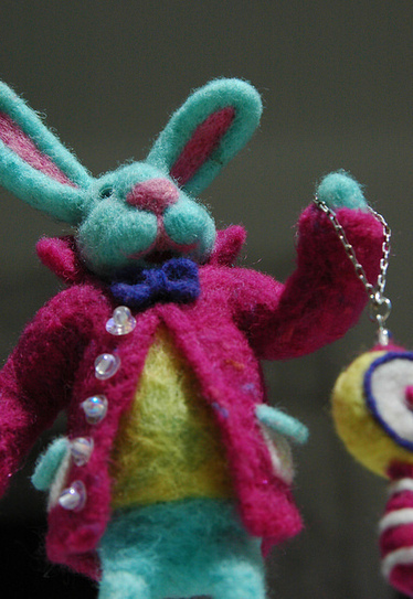 Mr Alice in Wonderland Rabbit | Needle felting art by Green Dot Creations' Studio! | Scoop.it