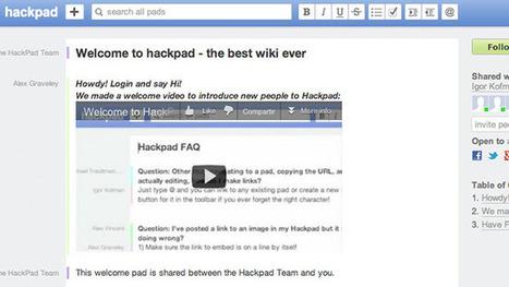 HackPad, a medio camino entre Google Docs y un wiki | Noticias, Recursos y Contenidos sobre Aprendizaje | Scoop.it