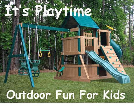 Wooden swing sets, metal swing set, vinyl swing sets at Build a SwingSet | Residential Swing Sets For Kids | Scoop.it