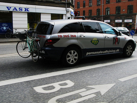 Bicycle Racks on Taxis in Denmark | Smarter Travel for Limerick | Scoop.it