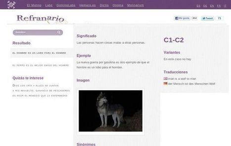 Refranario, un diccionario de refranes en español | TIC para las clases de Lengua Española | Scoop.it