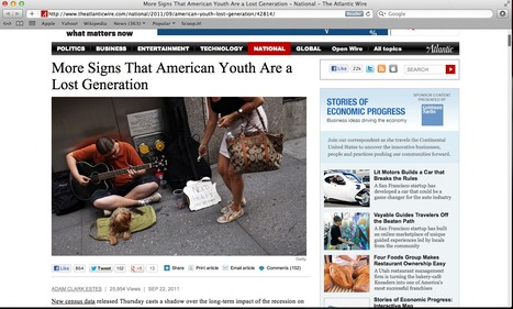 Globally Website #1: Signs That American Youth Are a Lost Generation | The Lost Generation Writers | Scoop.it