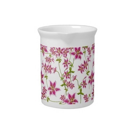 Pink Stargazer Lilies Pitcher from Zazzle.com | Teapots & Pitchers | Scoop.it