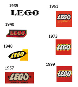 The evolution of the Lego logo. | timms brand design | Scoop.it